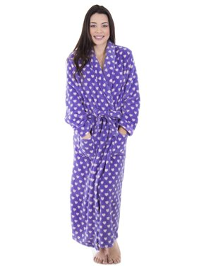 4503d7aacc Product Image Women Luxurious Classic Flannel Sleeve collar Bath Robe w   Pockets