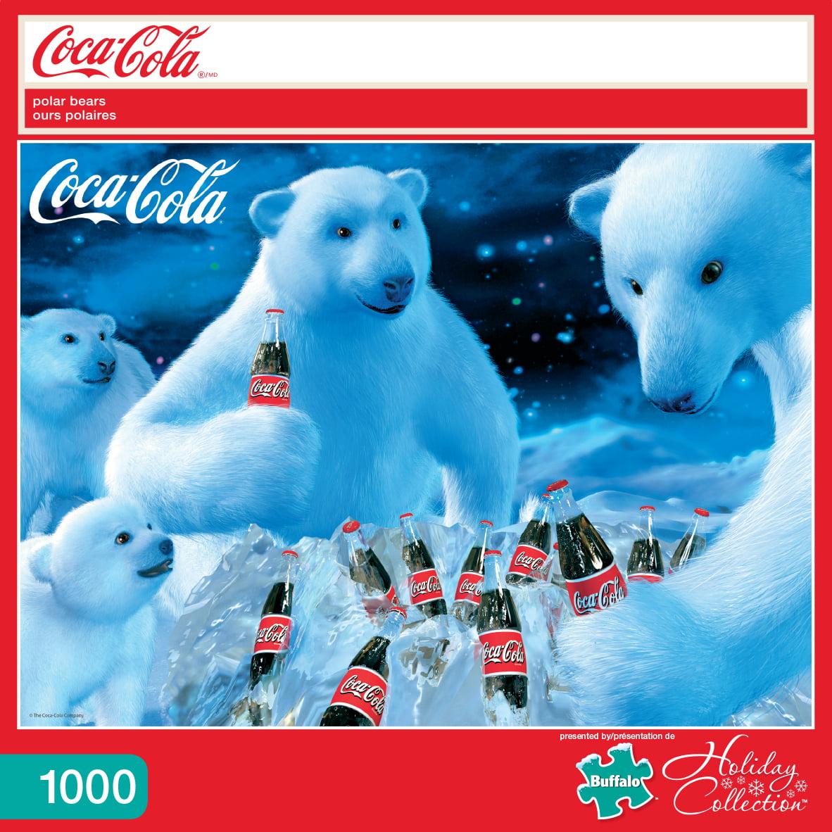 BUFFALO GAMES LLC Buffalo Games 1000 Piece Puzzle, Coca Cola  -  Polar Bears