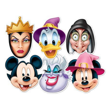 Disney Halloween 6pk-Mickey Vampire,Minnie Witch,Donald Wizard,Ursula,W... Mask - Ursula Halloween