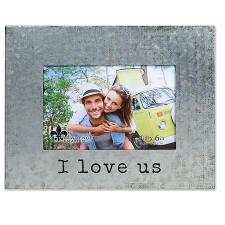 4x6 Galvanized Metal Picture Frame I Love Us Walmart Com