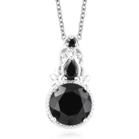- Round Smoky Quartz Pendant Necklace for Women 20