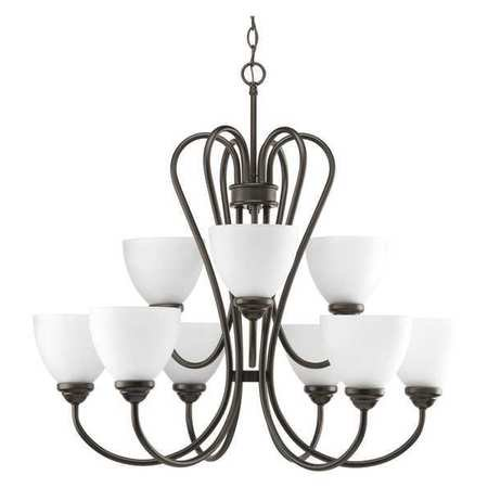 Heart Collection Nine-Light, Two-Tier Chandelier
