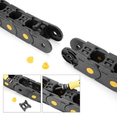 R55 25mm x 25mm Black Plastic Open Type Cable Wire Carrier Drag Chain 1M Length - image 1 of 8