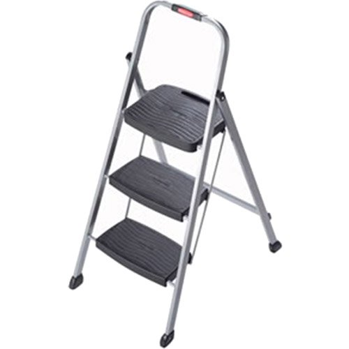 Rubbermaid 3-Step Steel Frame Stool with Hand Grip and Plastic Steps 200-  sc 1 st  Walmart : rubbermaid stepping stool - islam-shia.org