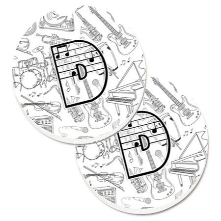 Letter D Musical Note Letters Set of 2 Cup Holder Car Coaster
