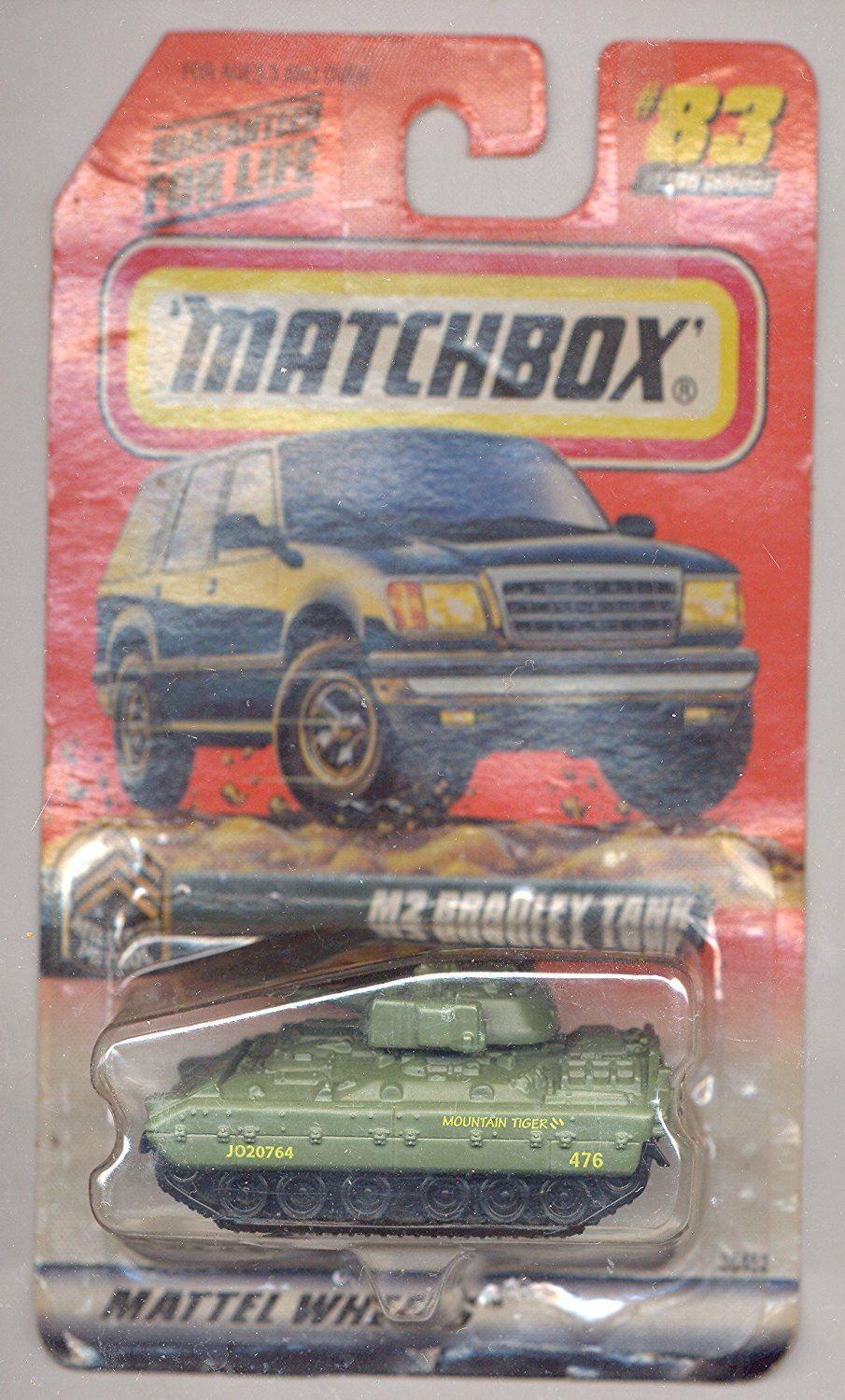 1999-83 100 Series 17 Military Patrol GREEN M2 Bradley Tank 1:64 Scale, 1:64 Scale By... by