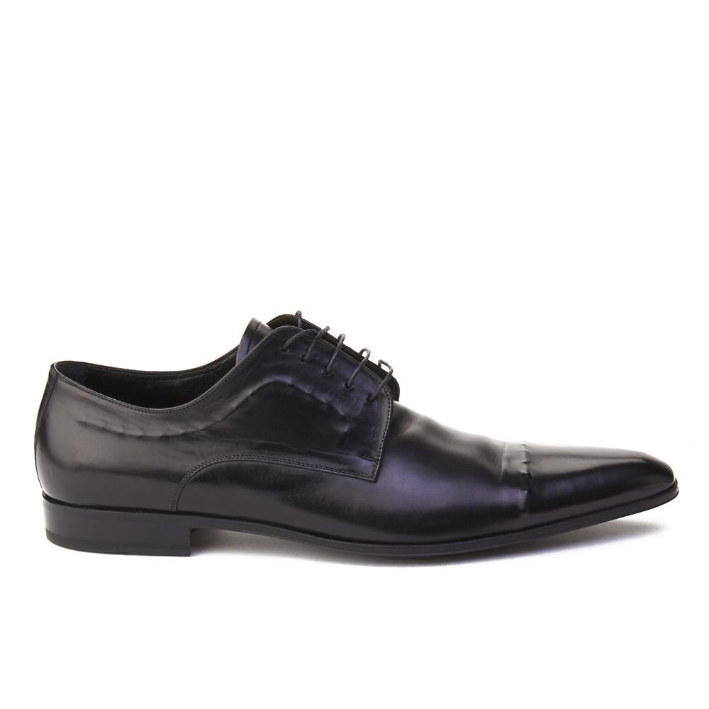 Dolce & Gabbana Men's Leather Oxford Dress Shoes Black