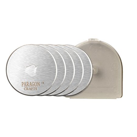 Paragon Crafts 5 Pack 45Mm Razor Edge Sharp Refill Rotary Cutter Blades A Must Have For Sewing Quilting Arts Crafts Diy Scrap Booking