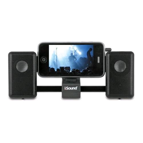 iSound - iMan Universal Portable Sliding Speaker System - Black