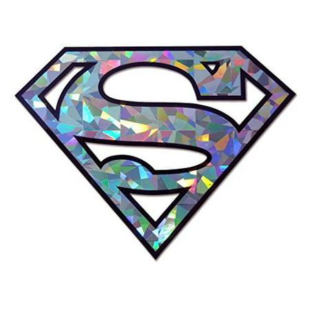 Superman Silver Open Reflective Decal Sticker Emblem](Superman Logo Stickers)