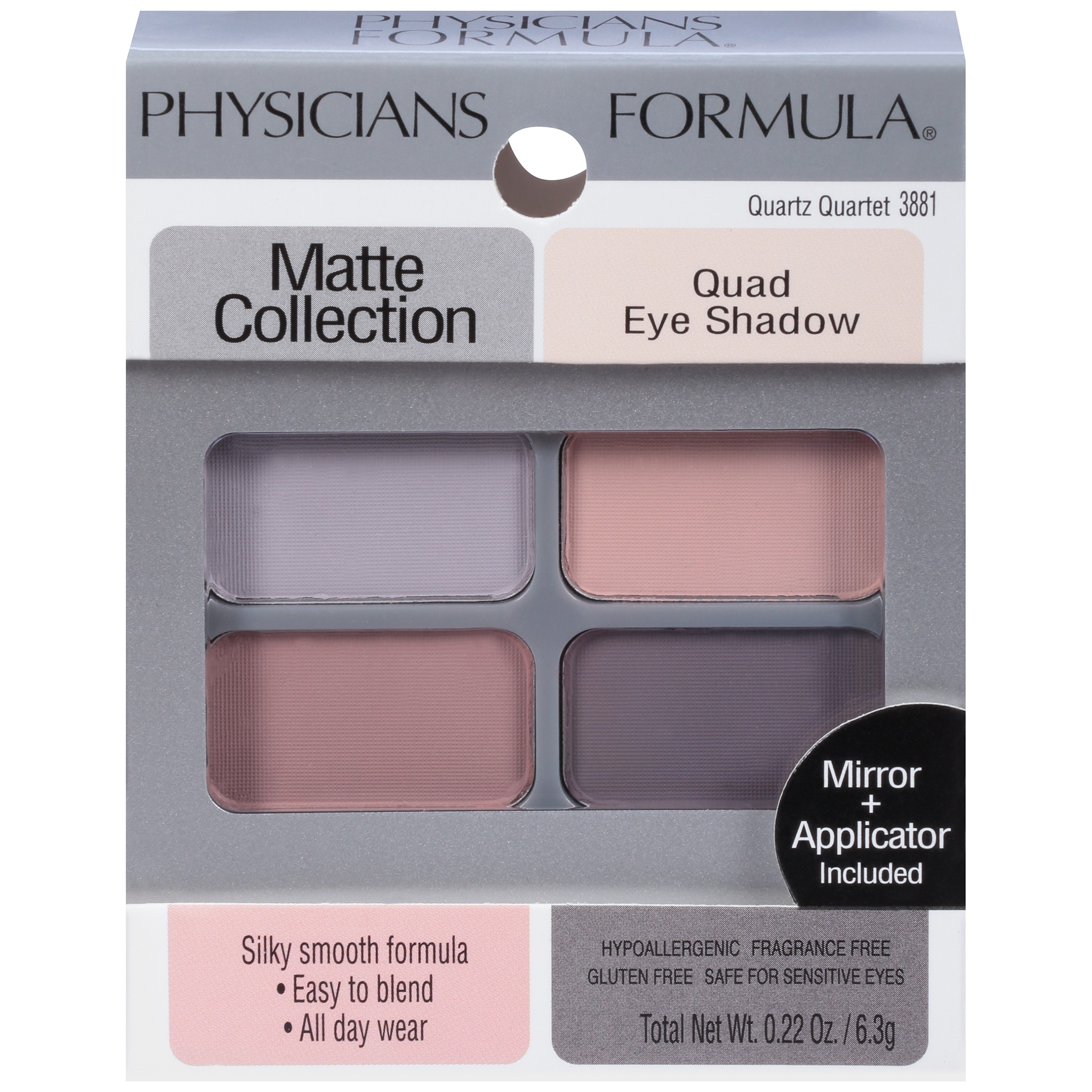 Physicians Formula Matte Collection Quad Eye Shadow 022 Oz Box