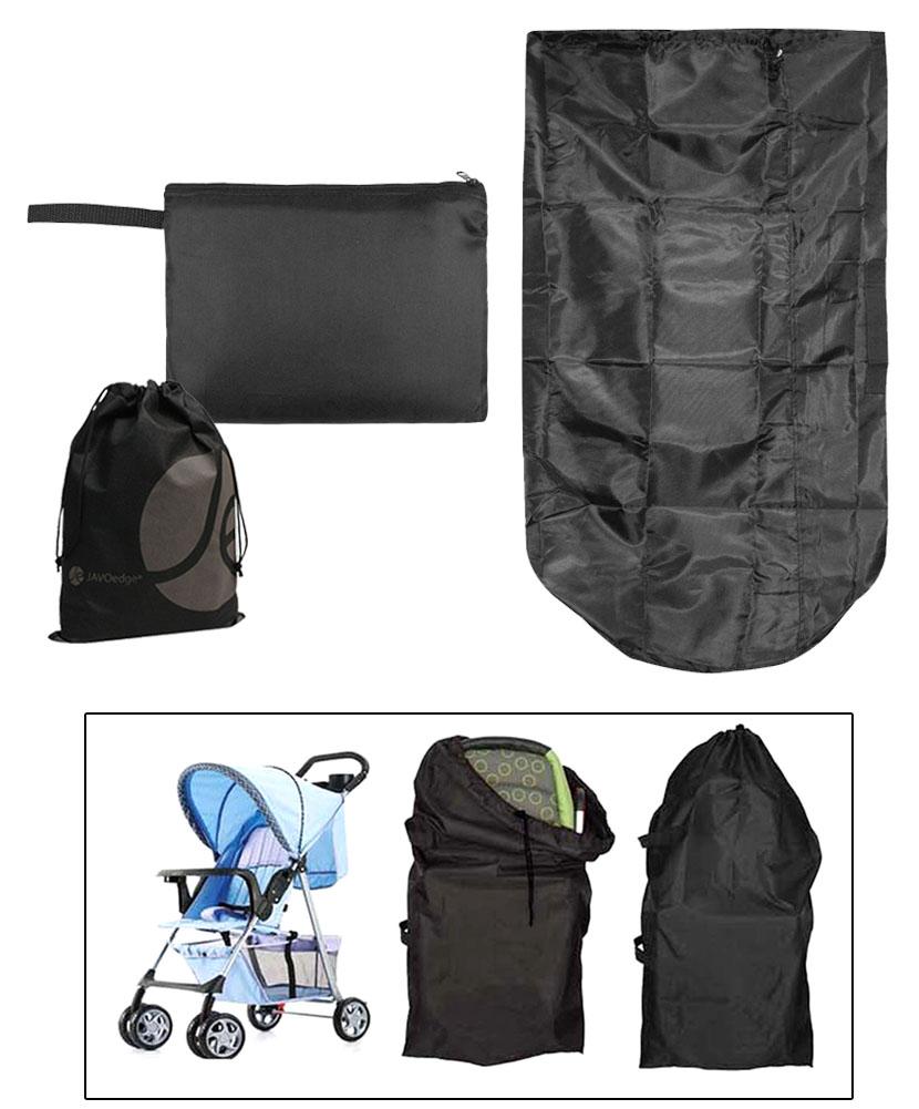 Pañalera JAVOedge negro plegable silla bolsa de almacenamiento, almacenes hasta un tamaño de billetera con saquito de bono + JAVOedge en Veo y Compro