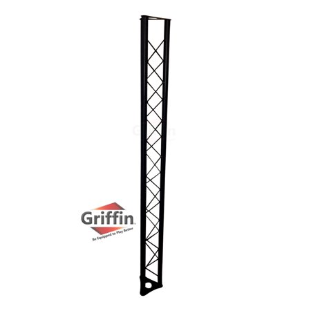 Triangle Truss Extension by Griffin   5Ft Extra Trussing Section for DJ Lighting System Stand   Mount Light Cans & Sound Effects for Pro Audio Equipment Gear   Parties, Live Gigs & Stage Performance - Party Equipment