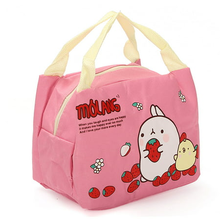 Cute lunch Box Carry Tote Portable Lunch Insulated Bags Hot Cold Pockets Lunch Box for Kids Girls Women Outdoor Picnic Work