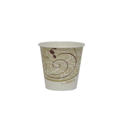 Solo Paper Hot Cups - Single Polylined 10OZ. SCC410SMSYM