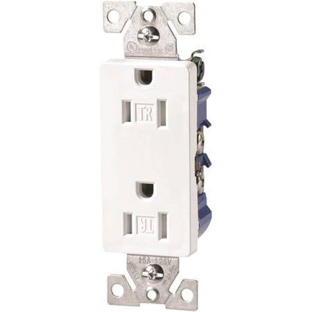 Cooper Industries 9235573 Decorator Tamper Resistant Duplex Receptacle, White - image 1 de 1