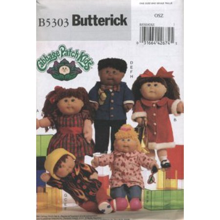Butterick 5303 Pattern for Cabbage patch doll clothes designed to fit 16 and 20 inch doll., Pattern and Instruction By The McCall Pattern Company (Mccalls Halloween Sewing Patterns)
