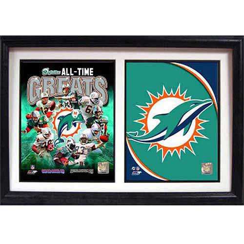 NFL Miami Dolphins 12x18 Double Frame