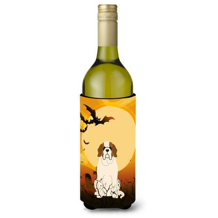 Halloween Saint Bernard Wine Bottle Beverge Insulator Hugger BB4301LITERK - Halloween Potion Bottles Sale