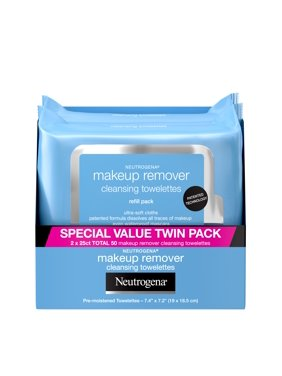 Neutrogena Makeup Remover Cleansing Face Wipes, 25 ct.