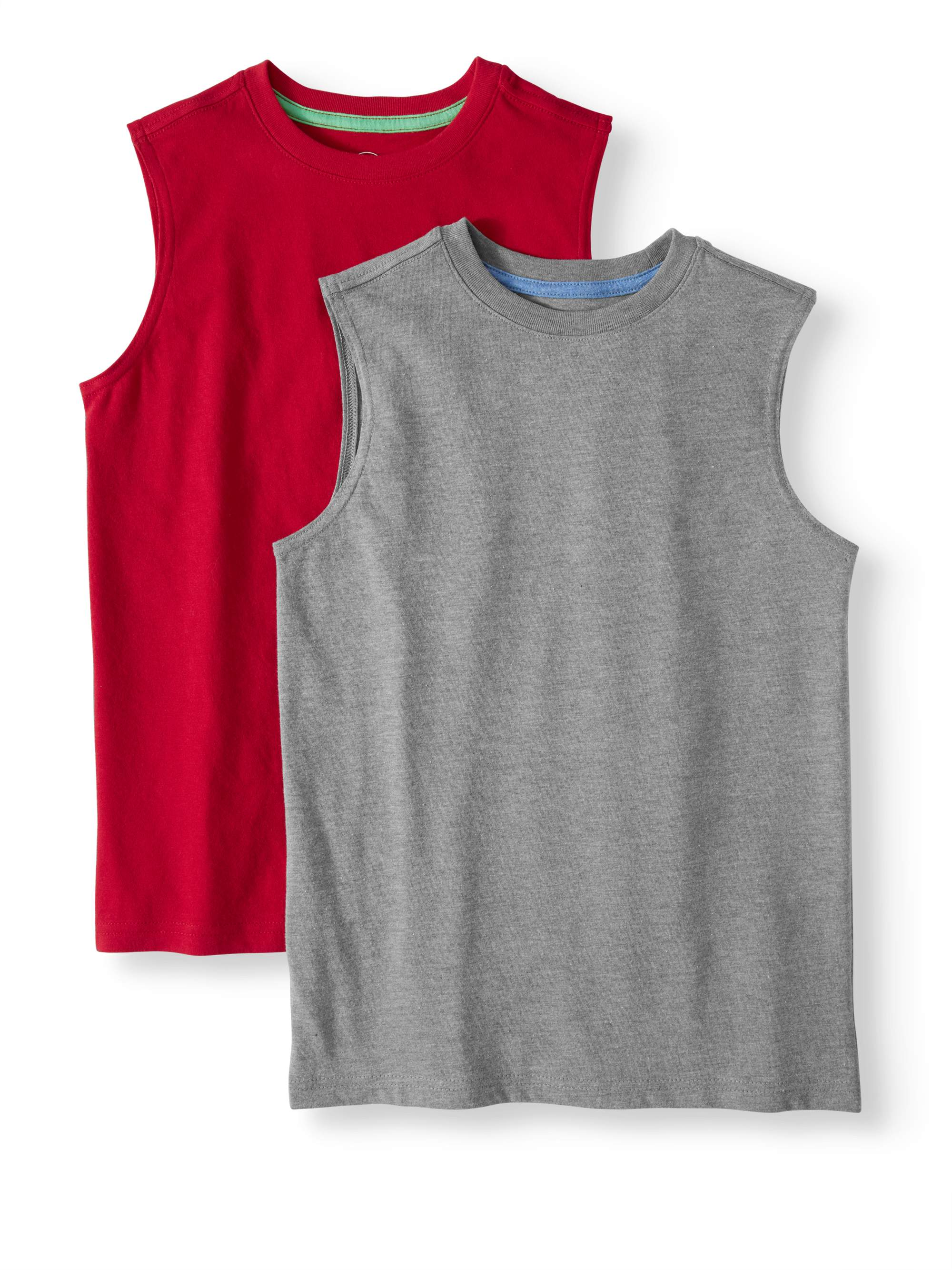 Sleeveless Tank, 2-Piece Multi-Pack Set (Little Boys, Big Boys, & Husky)