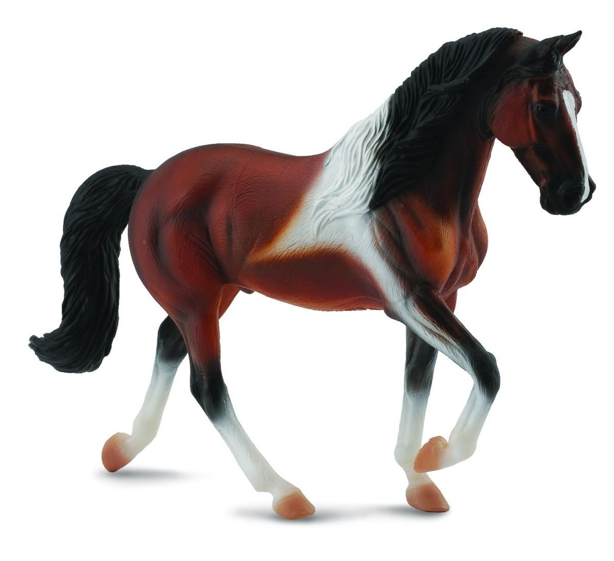 Breyer CollectA Series Tennessee Walking Horse Stallion Bay Pinto Model Horse