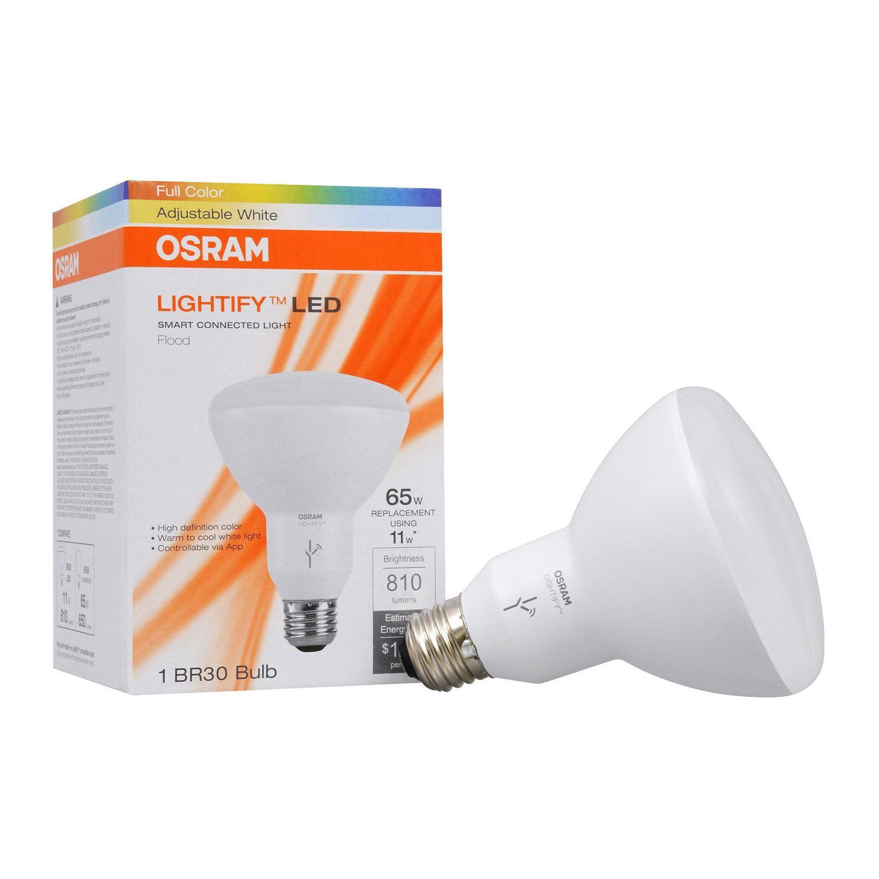 Sylvania Osram Lightify Smart Home 65W BR30 White/ Color LED Light Bulb (6 Pack) - image 1 of 9