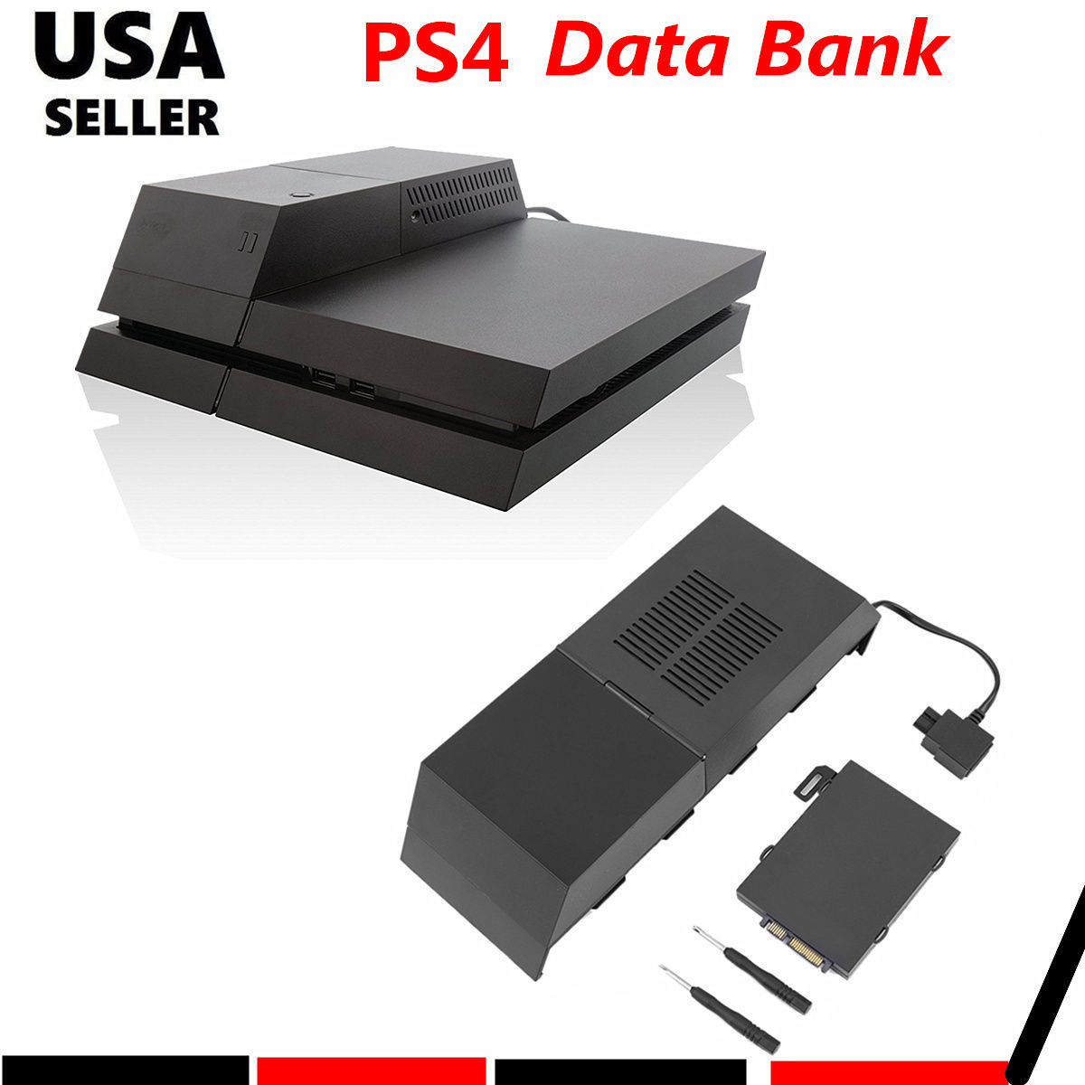 HJY For PS4 HDD Extender Data Bank 3.5 inch HDD Extender Enclosure Upgrade Dock