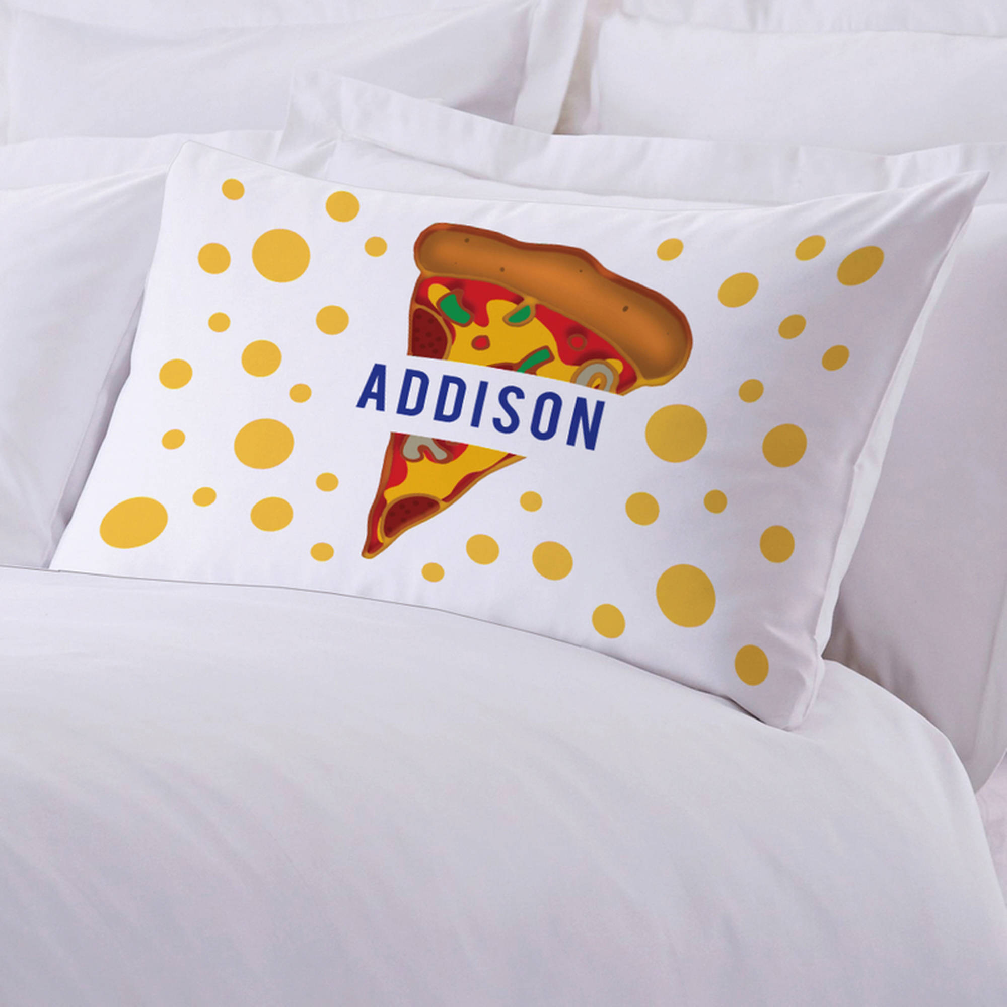 """Personalized Kids Name Pizza Pillow Case, 20"""" x 30"""""""