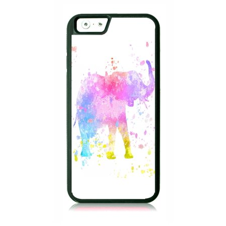 watch bfb9f 1b9fb Watercolor Elephant Black Rubber Case for the Apple iPhone 6 Plus / iPhone  6s Plus - Apple iPhone 6 Plus Accessories -iPhone 6s Plus Accessories