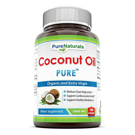 Pure Naturals Coconut Oil 1000 Mg 180 Softgels ()