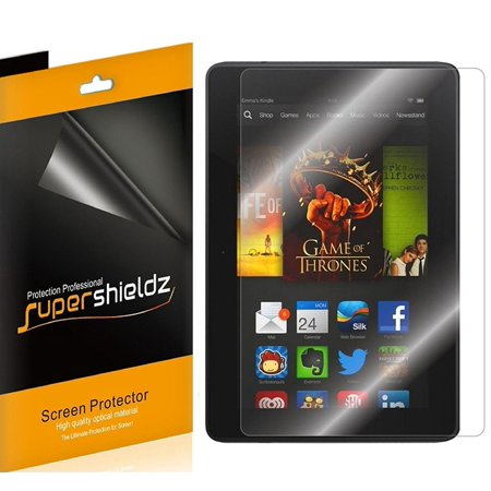 "[3-Pack] Supershieldz for Amazon Fire HDX 8.9 / Kindle Fire HDX 8.9"" Screen Protector, Anti-Bubble High Definition (HD) Clear Shield"