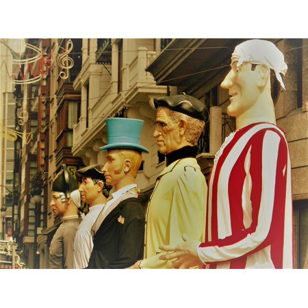 Canvas Print Parties Parade Giants Bilbao Tradition Week-Large Stretched Canvas 10 x 14](Giants Parade Halloween)