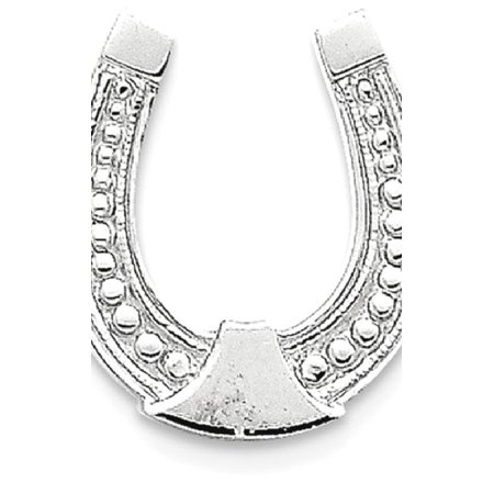 Horseshoe Italian Charm - ICE CARATS 14kt White Gold Horseshoe Pendant Charm Necklace Good Luck Italian Horn Animal Horse Fine Jewelry Ideal Gifts For Women Gift Set From Heart