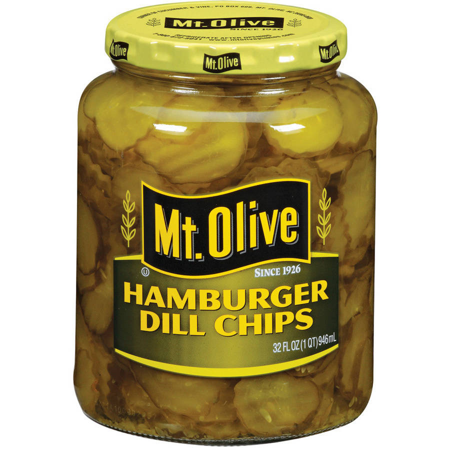 Mt. Olive Hamburger Dill Chips Pickles, 32 fl oz by Mt. Olive Pickle Co Inc