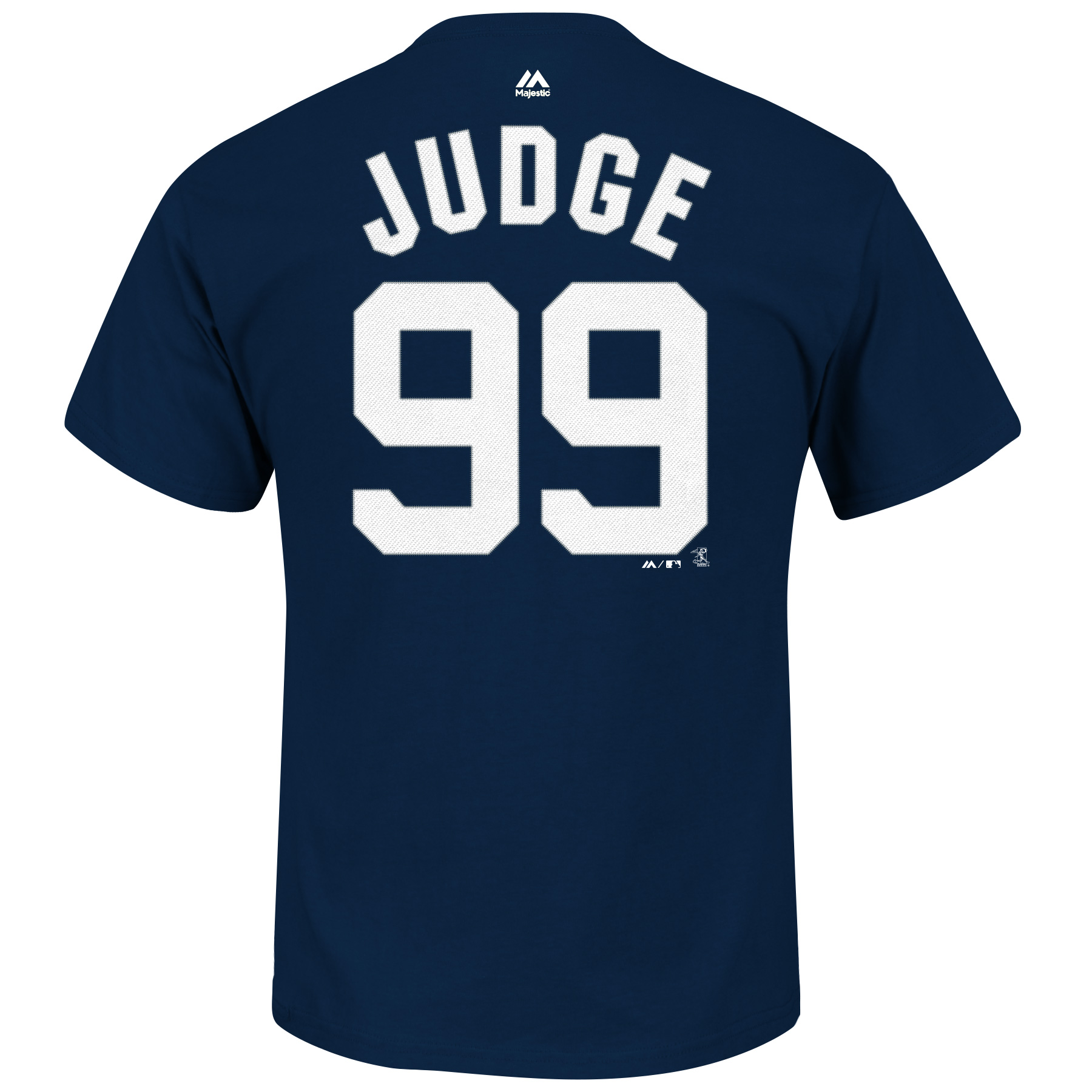 New York Yankees Aaron Judge Majestic MLB Player Men T Shirt Navy Blue S