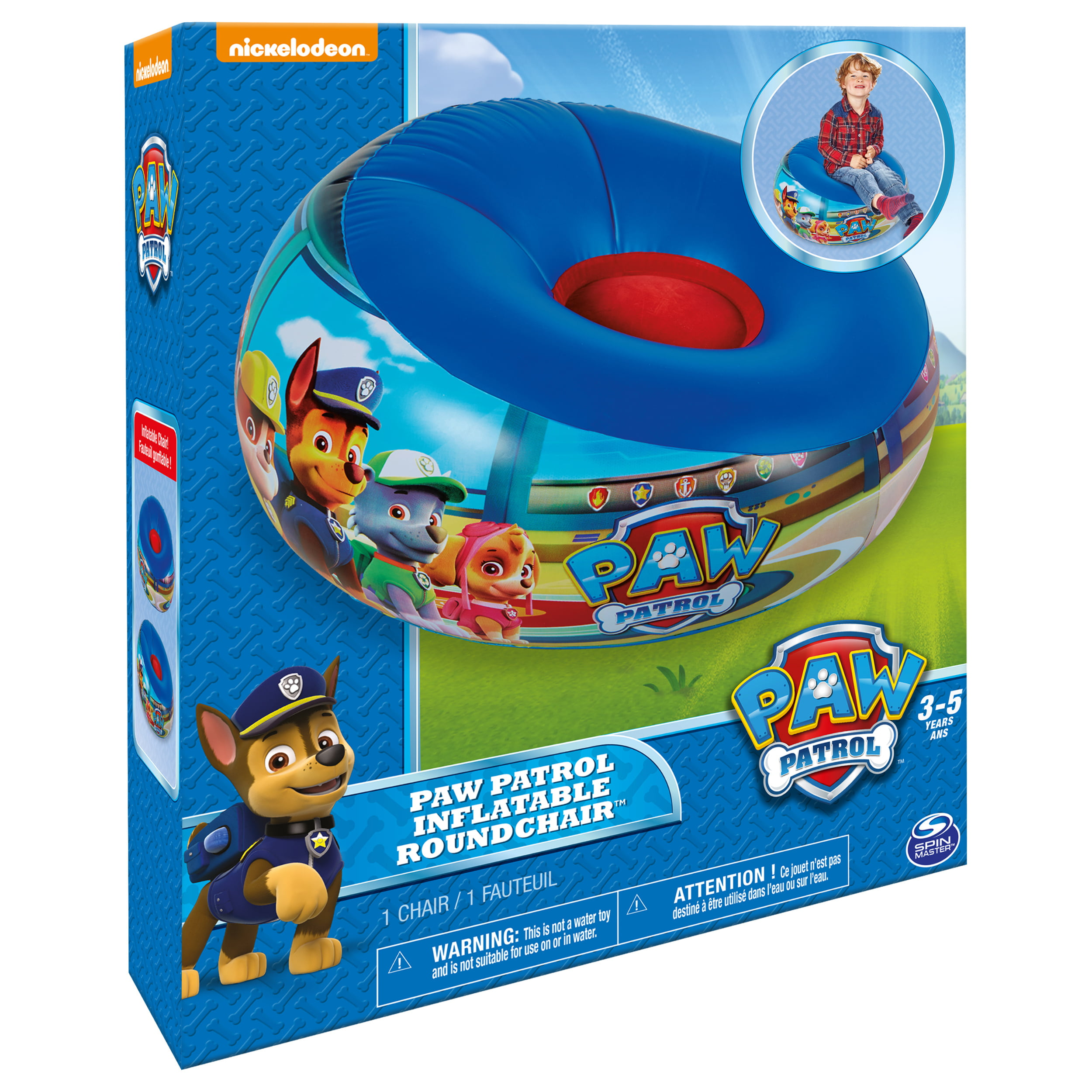 Marshmallow Furniture - Inflatable Round Chair - Paw Patrol - Blue ...