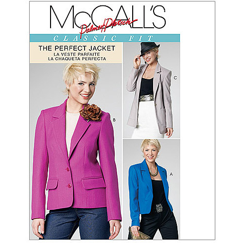 McCall's Pattern Misses' Lined Jackets in 3 Lengths, FF (16, 18, 20, 22)