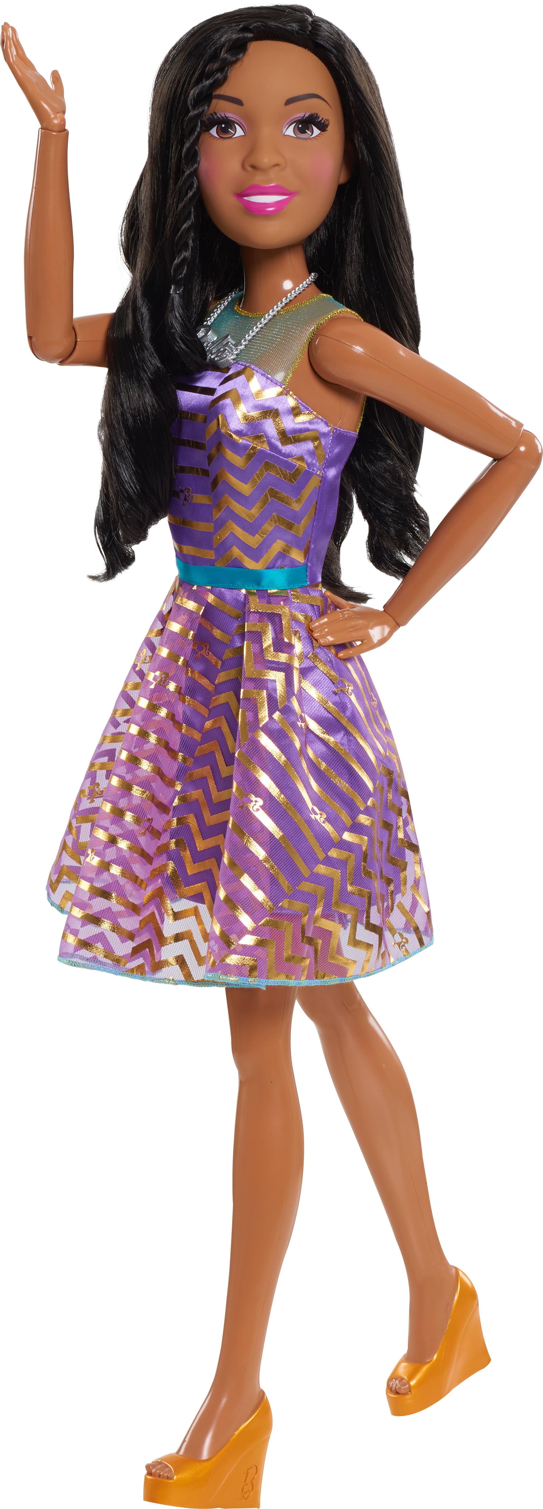 "Barbie 28"" Best Fashion Friend Doll Black Hair by Just Play"