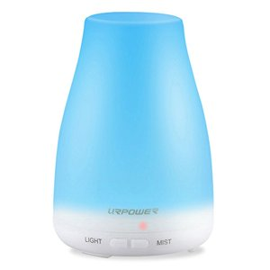 URPower New version Aroma Essential Oil Diffuser - Mist Mode & 7 LED Lights