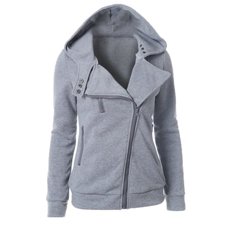 Women Hoodies Sweater Long Sleeve Pullover Hooded Sweatshirt Coat Jacket Pullover Tops Winter Warm Casual Zip Up Outwear
