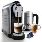 NutriChef PKNESPRESO70 - Espresso Machine & Milk Frother - Automatic Capsule Espresso Maker with Hot & Cold Milk Frother