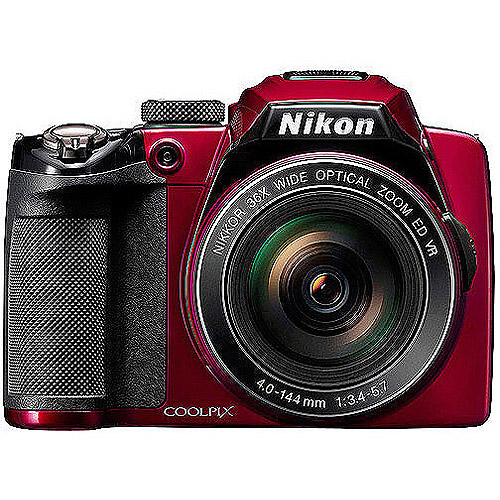 "Nikon Coolpix P500 12.1MP 36X Red Ultra Zoom Camera,  3.0"" LCD, HD Video"