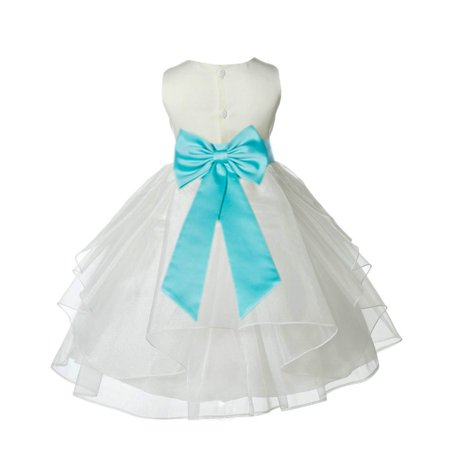 Tiffany Baby Gifts (Ekidsbridal Ivory Tiffany Shimmering Organza Christmas Party Bridesmaid Recital Easter Holiday Wedding Pageant Communion Princess Birthday Clothing Baptism 4613T size 6-9 month Flower Girl)
