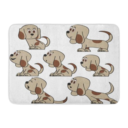 GODPOK Breed Adorable Cute Funny Cartoon Dogs Puppy Pet Characters Doggy Best Human Friends Animals Beagle Child Rug Doormat Bath Mat 23.6x15.7