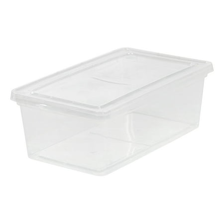 2 Quart Round Storage Container (IRIS 6 Quart Clear Storage Box, 6 Pack )