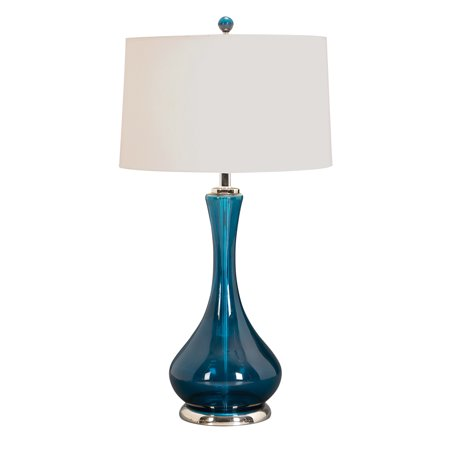 Decmode set of 2 contemporary 28 inch turquoise decanter glass table decmode set of 2 contemporary 28 inch turquoise decanter glass table lamps turquoise aloadofball Gallery