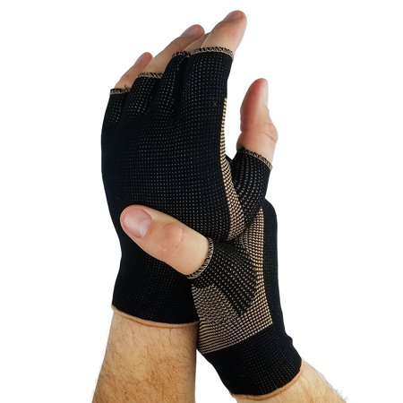Copper Compression Comfort Gloves - Arthritis, RSI, Carpal Tunnel,