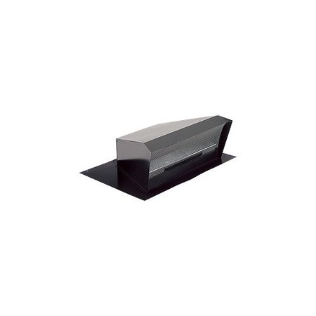 High Capacity Roof Cap - Broan 437 High Capacity Black Steel Roof Cap with Built-In Backdraft Damper