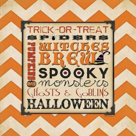 Halloween Type I Poster Print by Stephanie Marrott (24 x 24)](Halloween Type Names)
